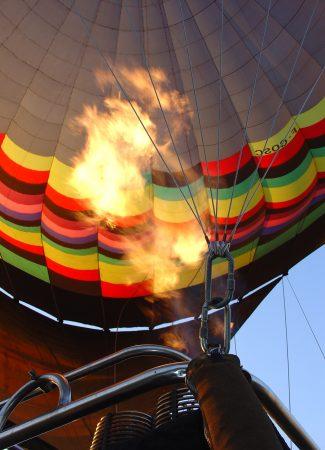 Survol de Dijon en montgolfière