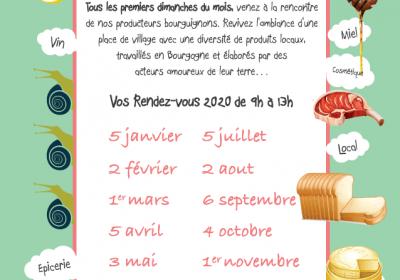 Un Dimanche en Bourgogne – Marché dominical – Promotion de produits locaux - 1