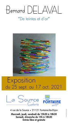 """Exposition  """"De teintes et d'or"""" – Bernard DELAVAL - 0"""