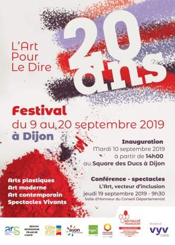 """Festival des 20 ans de """"L'art pour le dire"""" à Dijon / Expositions, spectacles, conférence et tables rondes - 0"""
